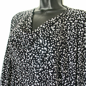 CJ Banks Black with white polka dots 3/4 sleeve